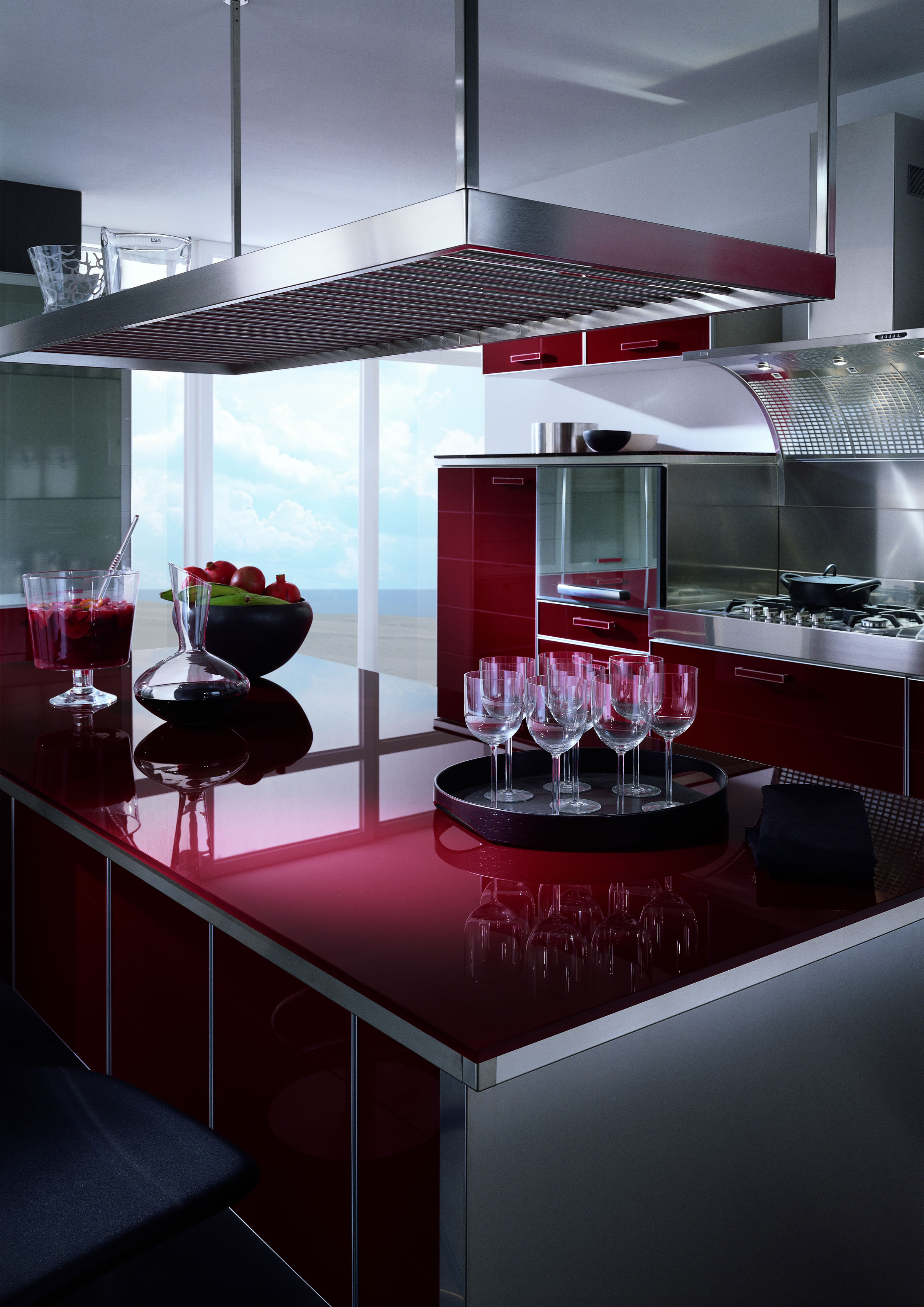 Colorful modern kitchen decorations